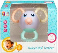 Blauwe BamBam Bam Bam gedraaide freaky bijtring bal muis - Baby / Peuter speelgoed gekleurd bijtring rammelaar - 3-6 Maanden