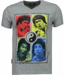 Grijze T-shirt Korte Mouw Local Fanatic Bruce Lee Ying Yang - T-shirt