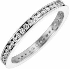 Hetty'S Schitterende wit gouden eternity ring met zirconia's