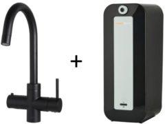 Kokendwaterkraan HotSpot Calisto Mat Zwart Inclusief 8 Liter Boiler