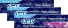 Oral-B 3D White Vitalize Tandpasta - 3x 75ml