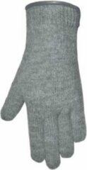 Licht-grijze Clausy Handschoenen dames van 100% wol en met echt leren randje