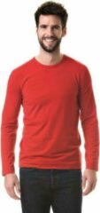 Basic stretch shirt lange mouwen/longsleeve blauw voor heren M (38/50)