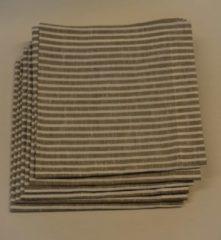 Valeria Produkten Servet streep zwart/grijs Valeria