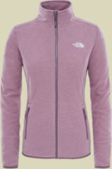The North Face 100 Glacier Full Zip Women Damen Fleecejacke Größe XS black plum stripe