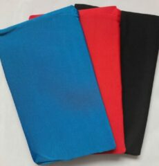 Merkloos / Sans marque 3 Rekbare Boekenkaften A4 - zwart blauw rood - geen kaftpapier nodig