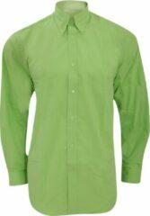 Kustom Kit Herenwerkershirt met lange mouwen (Kalk)