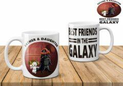 Witte AAA+ Papa en dochter beste friends in The galaxy