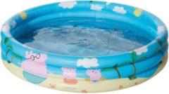 Happy People opblaaszwembad Peppa Pig 100 x 23 cm blauw