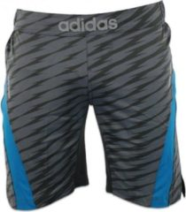 Blauwe Adidas Ultimate Athlete MMA Short Grijs Extra Large