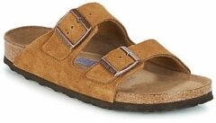 Bruine Wedges Arizona Cuir Suede Soft Footbed W by Birkenstock