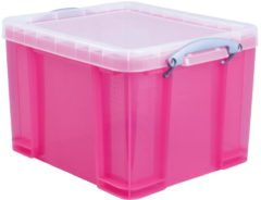 Really Useful Box opbergdoos 35 liter, transparant, helroze