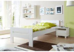 Einzel- und Doppelbett 'Bert', verschied. Farben Ticaa Weiß