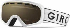 Witte Giro Rev Kinderen Skibril - White Zoom/Ar40 - White