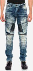 Blauwe Cipo & Baxx Regular fit Broek Maat W30