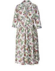 Kleid mit Blumen-Print Sara Lindholm Beige