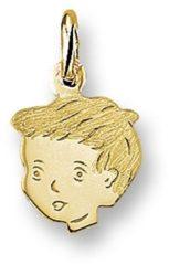 Gele Huiscollectie 4005817 Gouden bedel kinderkopje jongen