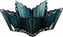 Redhart Theelichthouder JOZEF - Groen - Glas - Ster - 13 x 8.5 x 3.5 cm