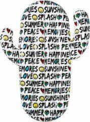 Bestway luchtbed - cactus - teksten en iconen - love, peace, happiness, smileys