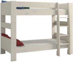 DS Style Stapelbed Kids 90x200cm in wit whitewash