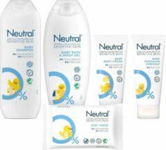 Neutral Baby Verzorgingspakket * 5 Delig * Babydoekjes / Shampoo / Wasgel / Zinkzalf / Bodycreme