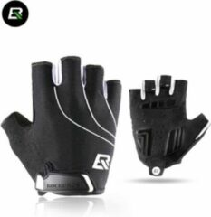 Zwarte ROCKBROS hele verkoop gymhandschoenen motorfiets fietshandschoenen halfvingerhandschoenen/ROCKBROS Gants de gym vente entière gants de cyclisme moto gants demi-doigt
