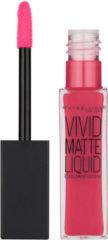 Donkerrode Maybelline Color Sensational Vivid Matte Liquid - 40 Berry Boost - Matte Lipstick lippenstift Roze Mat