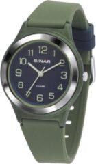 Sinar Analoog Horloge 36 mm 100 meter groen/ blauw XB-48-3
