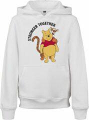 Witte Mister Tee Kinder Stronger Together - Winnie de Poeh - tijgertje - Vrienden - Sterker samen - Streetwear - Casual - Modern - Nieuw - Hoody