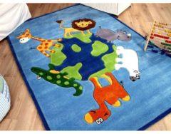 Lifestyle Kinderteppich Blau Tierwelt in 3 Größen Pergamon Blau