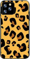Able & Borret Smartphone hoesje | Telefoon hoesje | Anti shock | Panterprint | Geel | iPhone 11 Pro