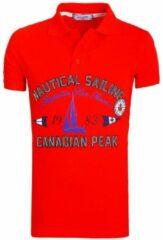 Rode Canadian Peak Poloshirts heren Heren Poloshirt S