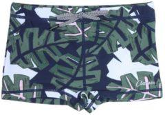 Marineblauwe Claesen's zwembroek tight fit jongen Tropical 92-98