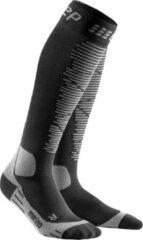 Grijze CEP Ski Merino compressiesokken (zwart/antraciet)-Man-Maat III: 32 - 38 cm