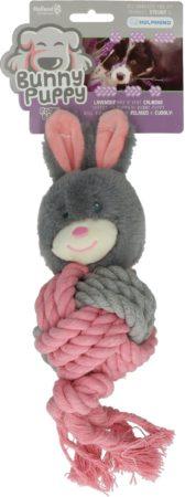 Afbeelding van Bunny Puppy Ropey Ball - Hondenspeelgoed - 38x13x9 cm Grijs Roze
