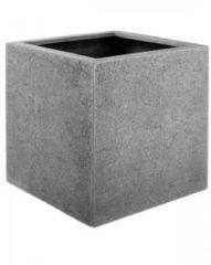 Licht-grijze Luca Lifestyle Struttura M 40x40x40 cm vierkante plantenbak grijs