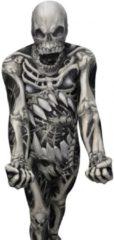 Zwarte Morphsuits™ Monster: Skull And Bones - SecondSkin - Verkleedkleding - 164/176 cm