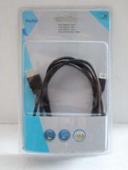 Zwarte Profile HDMI kabel - HDMI M > mini
