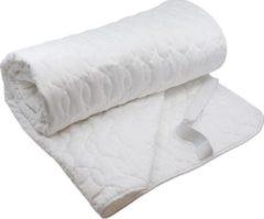 Witte Sebra topdek matras beschermer 70 x 155 cm