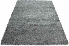 Decor24-AY Hoogpolig vloerkleed Life - grijs - 80x150 cm