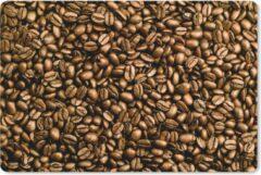 MousePadParadise Muismat Koffieboon - Lichtbruine koffiebonen op een hoopje muismat rubber - 60x40 cm - Muismat met foto