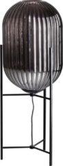 Gloeilicht- ETH ETH Tafellamp Glamm L 30cm smoke glass ribbel / zwart