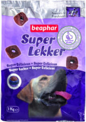 Beaphar Super Lekker Hond - Hondensnacks - Vlees 1 kg - Hondenvoer
