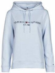 Tommy Hilfiger Dames Breezy Blue Hoodie Lichtblauw WW0WW26410 C10