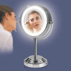 VITALmaxx LED-Kosmetikspiegel 4,5V silber