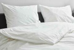 Witte Kepri Dekbedovertrek - Eenpersoons - Satijn Katoen - Crispy White - Duurzaam - 500TC - 140 x 220 cm