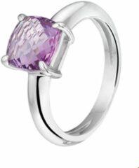 Paarse Huiscollectie Zilver Gerhodineerde Ring amethyst 17.50 mm (55)