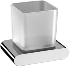 Bekerhouder Sapho Flori Hangend 12.2x10.6 cm Chroom / Satijnglas