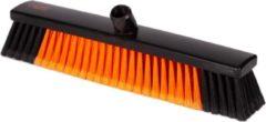 Oranje KERSTAANBIEDING - OrangeBrush - Straatbezem - Bezem - Hard - 45 cm - Gemaakt van gerecycled kunststof - OB20245