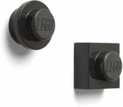 Zwarte LEGO Iconic Magneten - Set van 2 Stuks - �7 cm